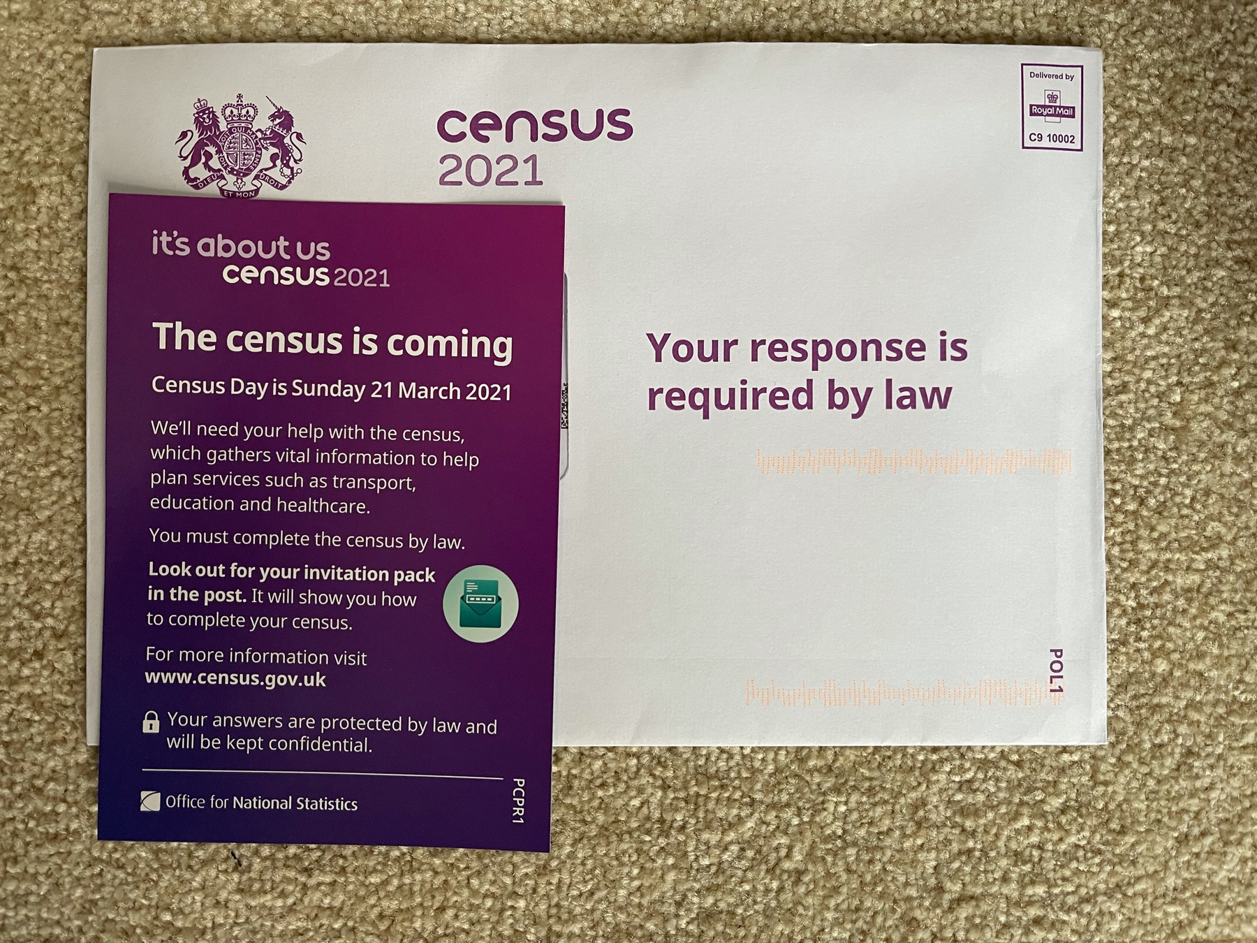 Census 2021 leaflet and the census itself