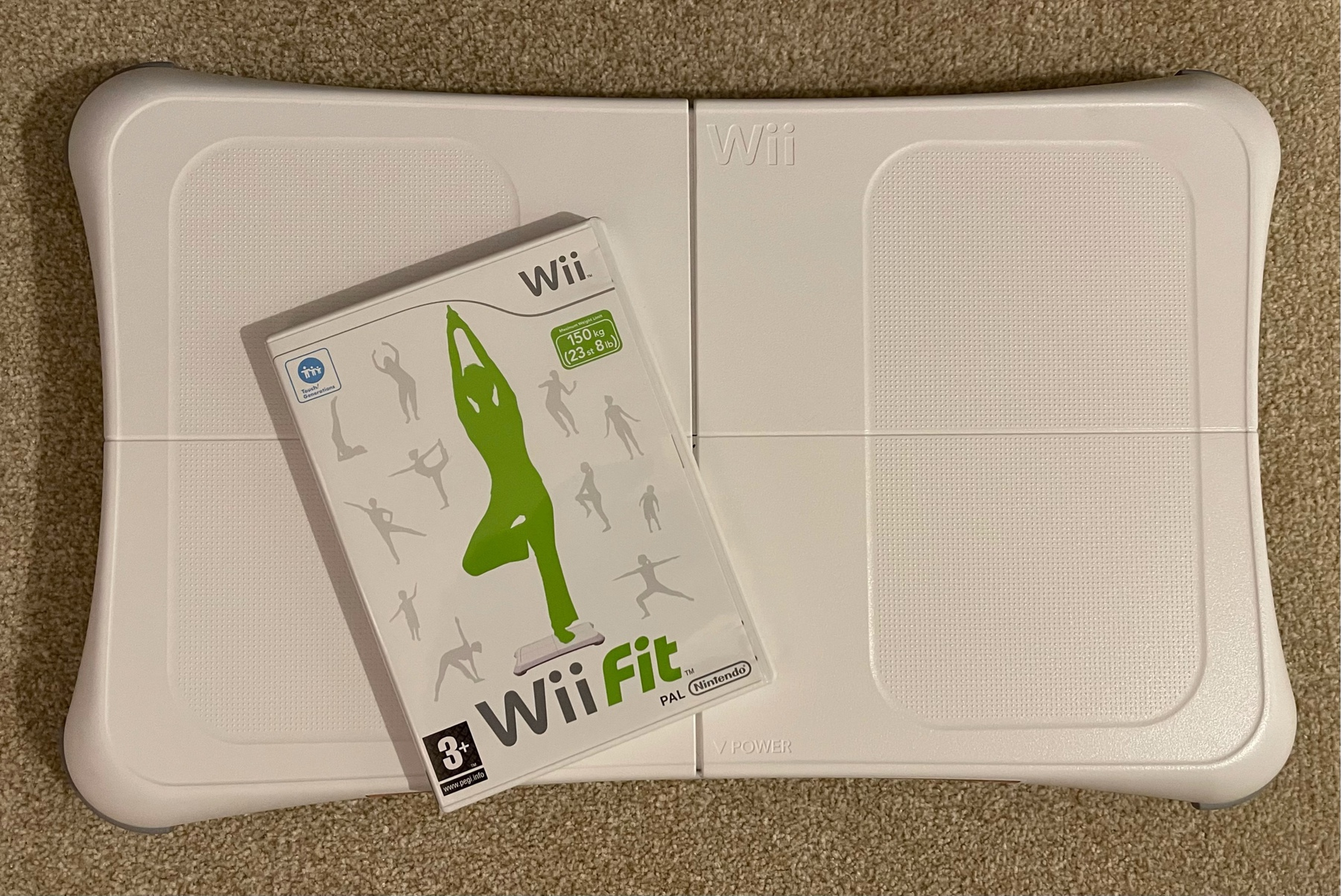 Nintendo Wii Balance Board and Wii Fit game